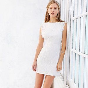 Kimchi Blue Women's White Pinafore Lace Dress